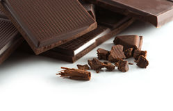 Macro shot chocolate bar Stock Photography