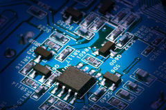 Macro shot of circuit board Stock Photography