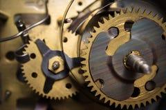 Macro shot of clockwork gears inside the watch Stock Photo