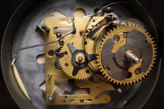 Macro shot of clockwork gears inside the watch Stock Images