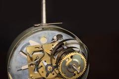Macro shot of clockwork gears inside the watch Royalty Free Stock Photos