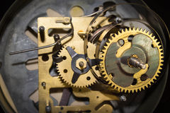 Macro shot of clockwork gears inside the watch Royalty Free Stock Photography