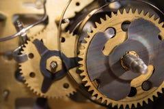 Macro shot of clockwork gears inside the watch Stock Photos