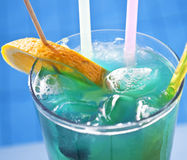 Macro shot of colorful coctail Royalty Free Stock Photos