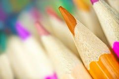 Macro shot of colorful pencils Stock Photos