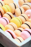 Macro shot of colourful macaroons Stock Photography