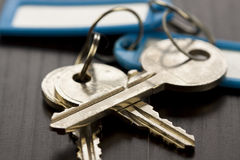 Macro Shot of Conceptual House Keys Stock Photo
