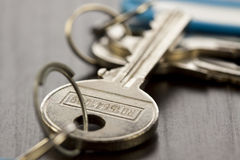 Macro Shot of Conceptual House Keys Royalty Free Stock Photos