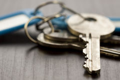 Macro Shot of Conceptual House Keys Royalty Free Stock Image