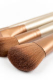 Macro shot of cosmetic makeup brushes Royalty Free Stock Photography