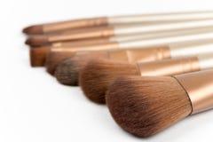 Macro shot of cosmetic makeup brushes Royalty Free Stock Image