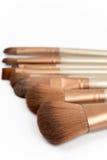 Macro shot of cosmetic makeup brushes Royalty Free Stock Images