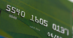 Macro shot of credit card Royalty Free Stock Photos