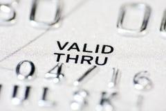 Macro shot with credit card Royalty Free Stock Image