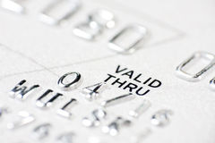 Macro shot with credit card Royalty Free Stock Images