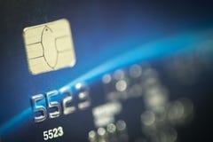 Macro shot credit card. Stock Image