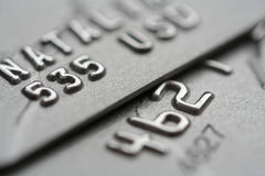Macro shot of credit cards Stock Photos