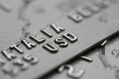 Macro shot of credit cards stock photography