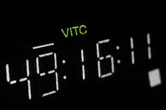 Macro shot-display of the pro broadcast vcr Royalty Free Stock Image