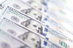 Macro shot of a 100 dollar. American Dollars Cash Money Stock Images