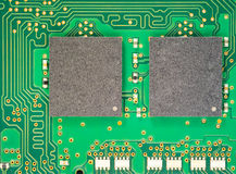 Macro shot of electronic board Royalty Free Stock Image