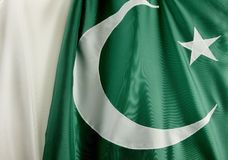Macro shot of flag of Pakistan Stock Photos