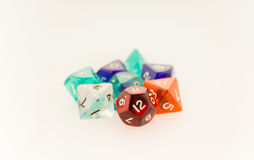 Macro shot of gaming dice set Royalty Free Stock Photo
