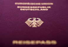 German Passport Macro Royalty Free Stock Images