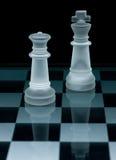Macro shot of glass chess set Stock Images