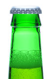 Macro Shot of Green Beer Bottle Neck Royalty Free Stock Image