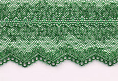 The macro shot of the green lace texture material Royalty Free Stock Photos
