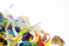 Paper Strips Background on White Stock Images