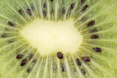 Macro shot of a half kiwi. Could be used as background. Horizontal color image Stock Images
