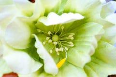 Macro shot handmade artificial flowers. Macro shot a handmade flowers Stock Images