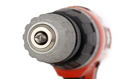 Macro Shot Image of Red and Black Drill Stock Photo