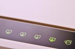Macro shot of internet modem Royalty Free Stock Images