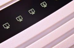 Macro shot of internet modem Stock Photo