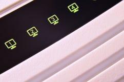 Macro shot of internet modem Royalty Free Stock Image