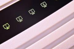 Macro shot of internet modem Stock Photography