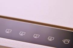 Macro shot of internet modem Royalty Free Stock Photography