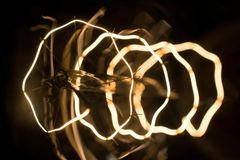 Macro lamp edison. Macro shot intricate  retro edison lamp Stock Image