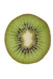 Macro shot of a kiwi isolated on white Royalty Free Stock Image
