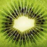 Macro shot of a kiwi slice Stock Images