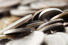 Coins Macro Background Royalty Free Stock Image
