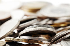 Coins Macro Background Royalty Free Stock Photos
