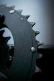 Macro shot on larger chainring Stock Photography