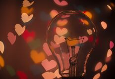 Macro Shot of Light Bulb Stock Photo