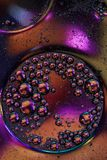 Macro shot of liquid or air. abstract glass molecule sctructure, macro shot 3d render with depth of field.  Stock Photos