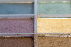 Macro shot of makeup palette Royalty Free Stock Images