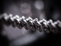Macro shot of mountain bike chain Stock Image